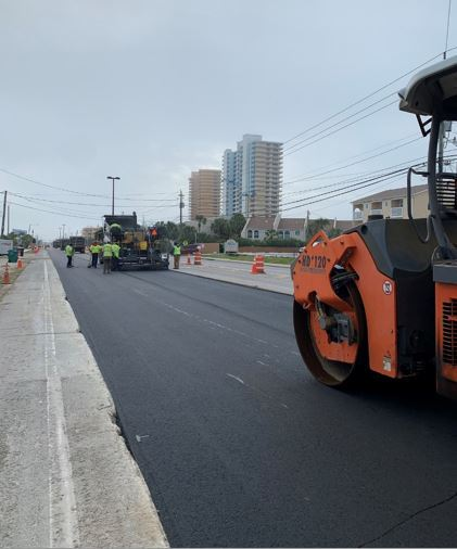 Thomas drive paving image